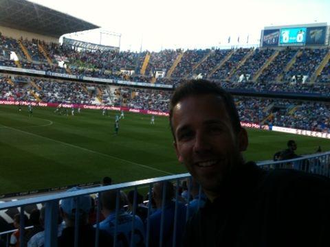 Im Stadion in Malaga