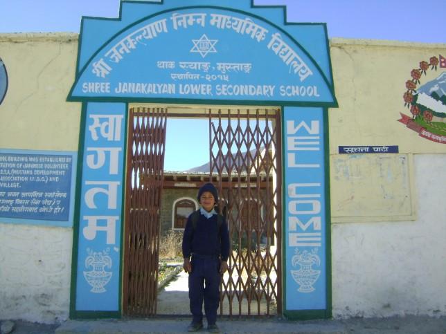 Tilak on his school
